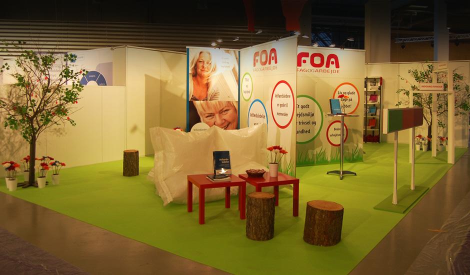 Butiksdesokration og messe Foa
